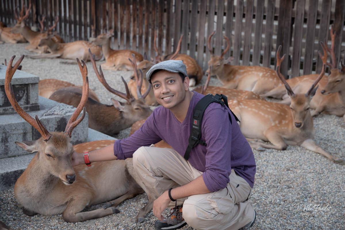 Viki at Nara Park
