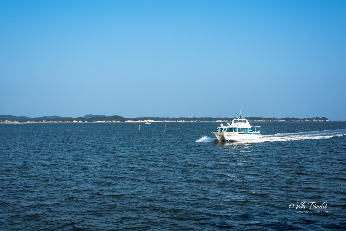 A boat on Matsushima Bay