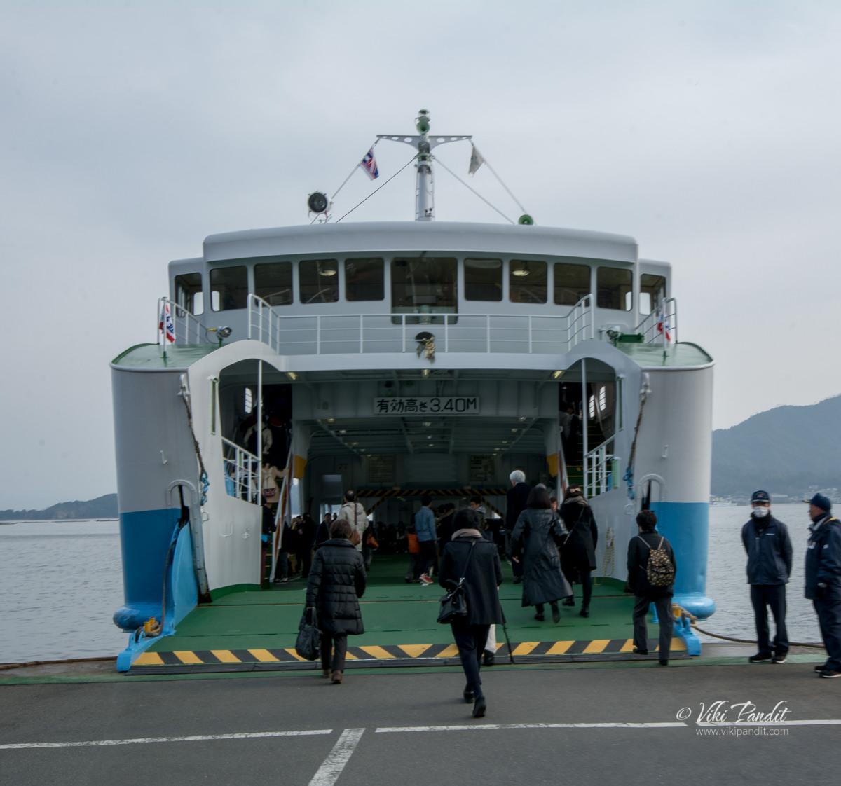 Matsudai ferry to Miyajima