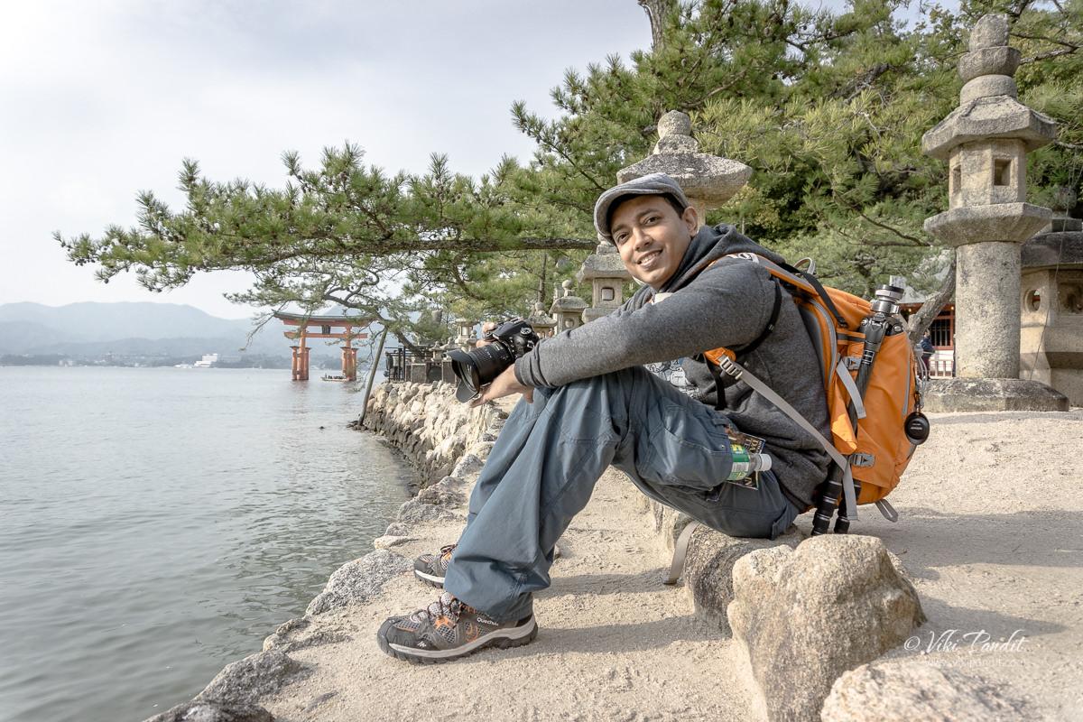 In front of Miyajima Torii