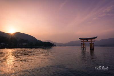 Sunset View of Torii at Miyajima