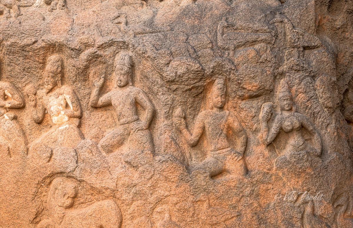 Bas relief sculptures at Mahabalipuram