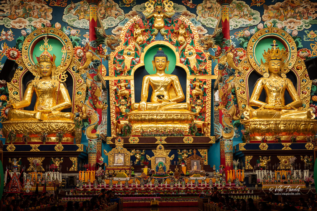 Buddha at Golden Temple in Bylakuppe