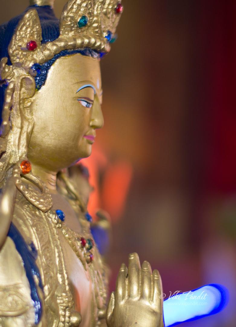 Buddha Statue inside Sakya Monastery