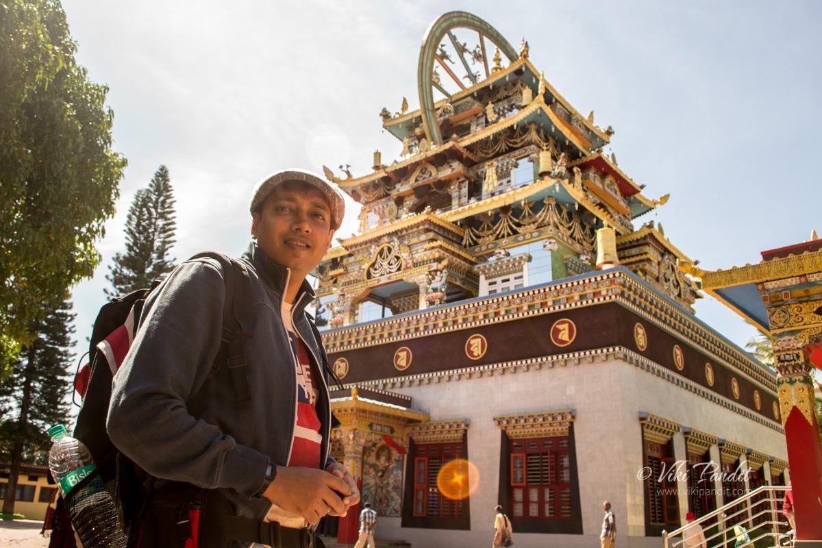 Viki at Namdroling Monastery