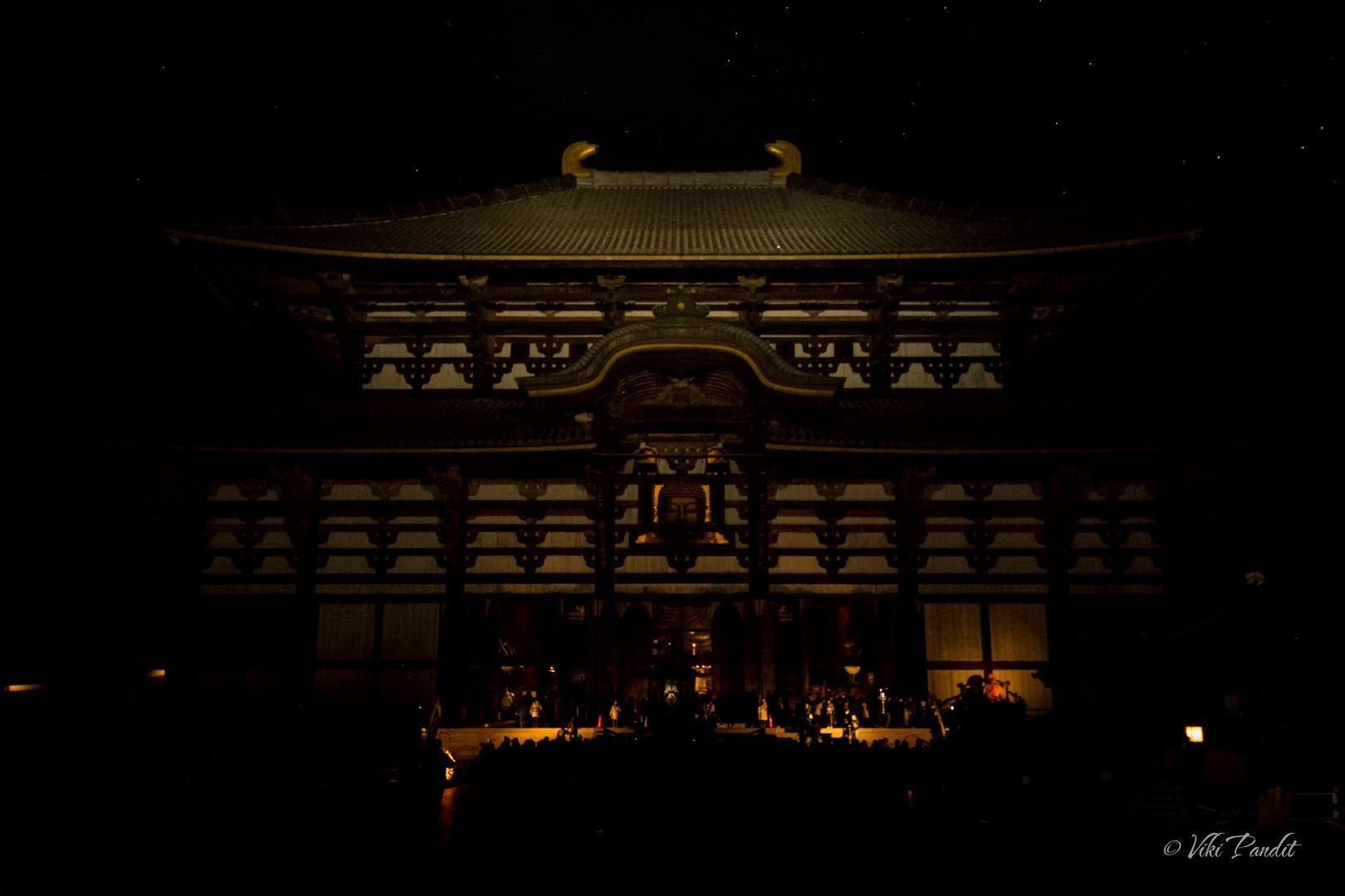 Todaiji Daibutsu on New Year Eve