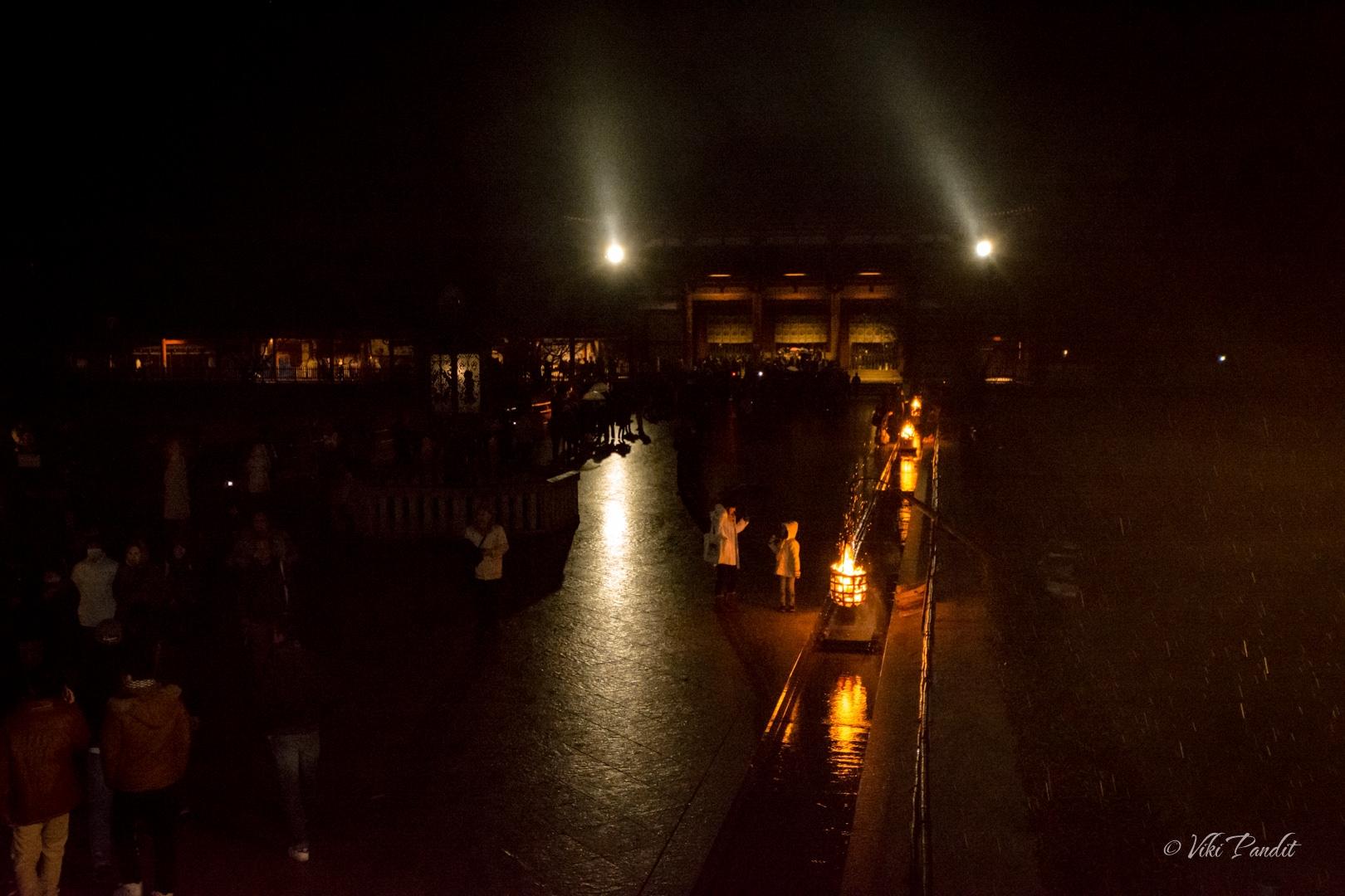 Todaiji Grounds on New Year Midnight