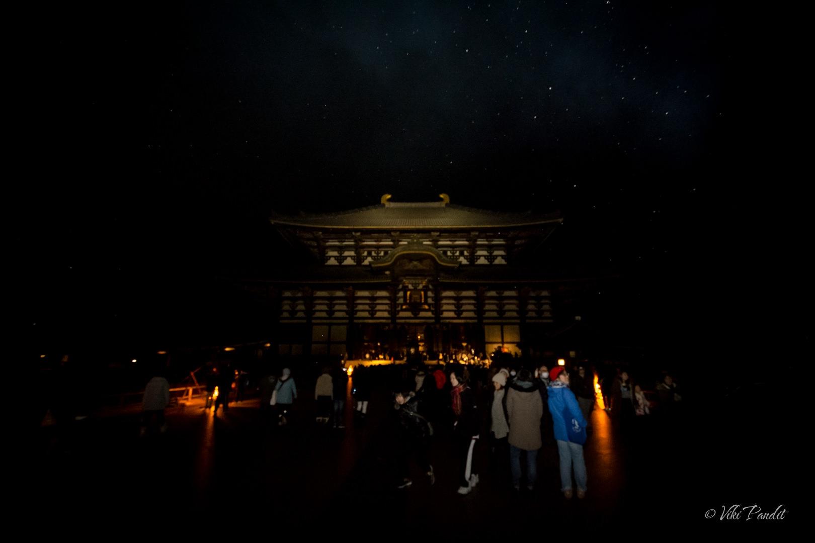 Todaiji at New Year Midnight