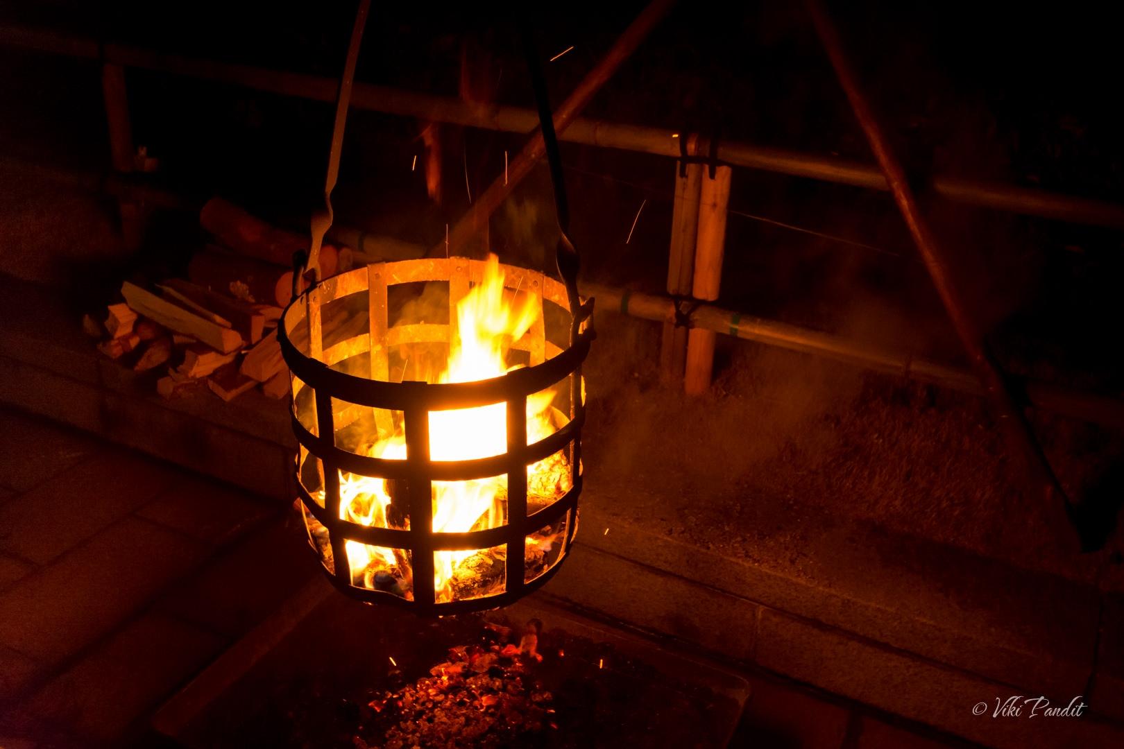 Bonfires at odaiji