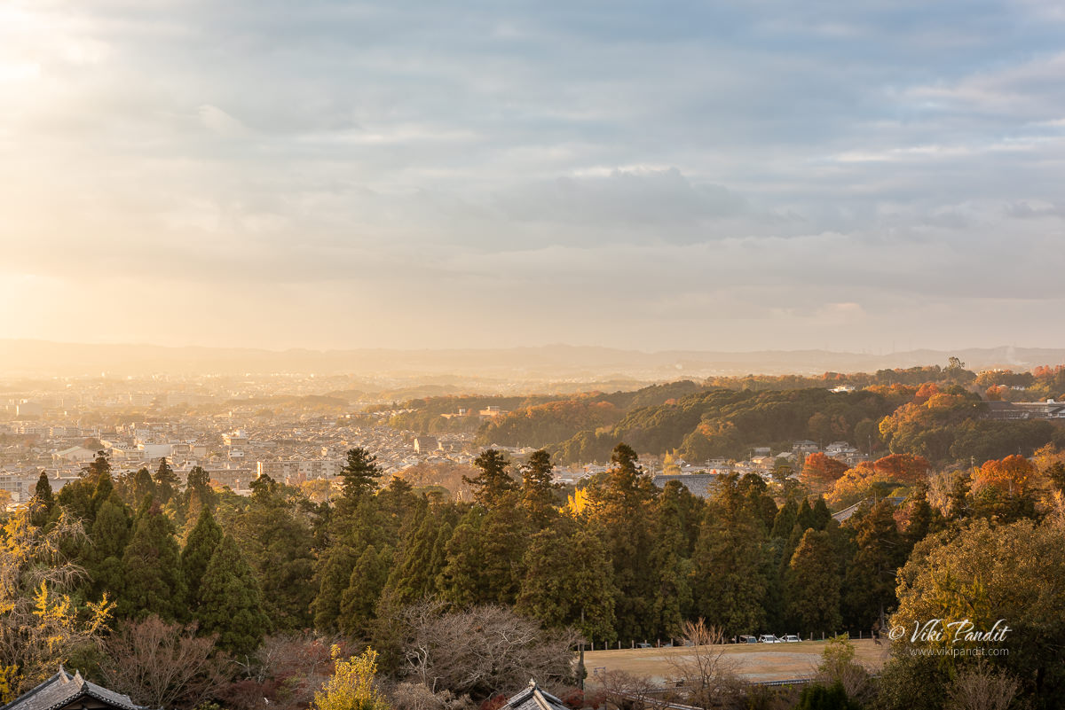 Nara City at Sunset from Nigatsudo
