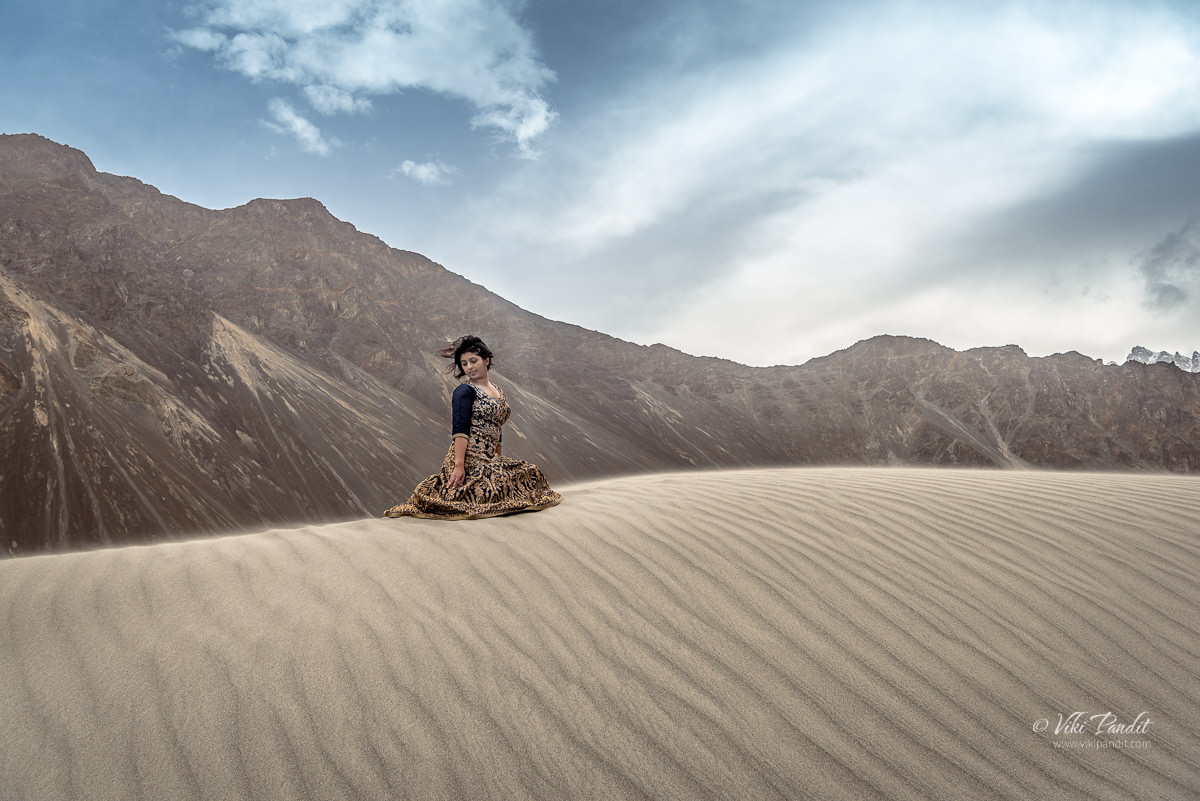 Ranita on the sand dunes of Nubra