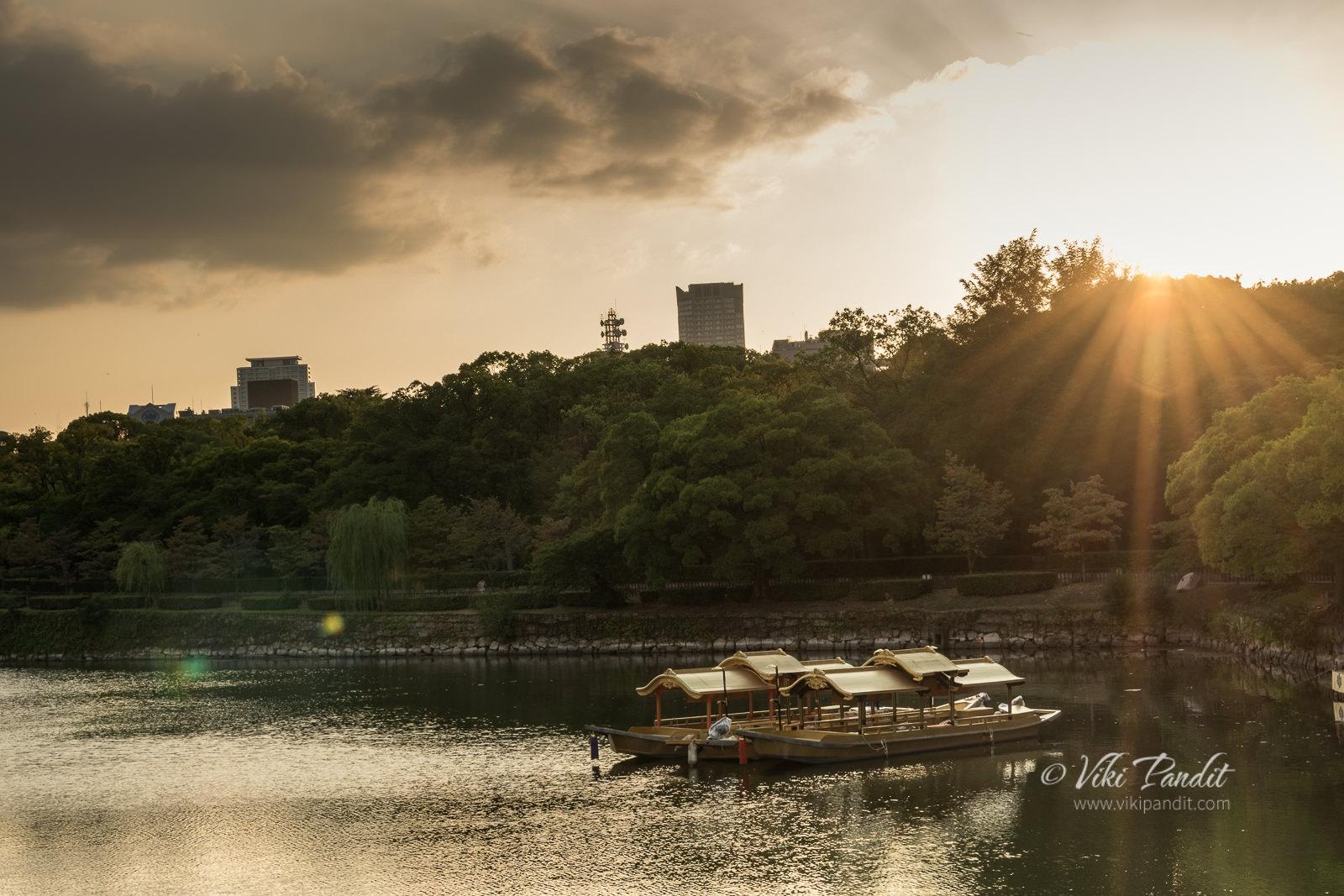 Pleasure Boats at Osaka Castle