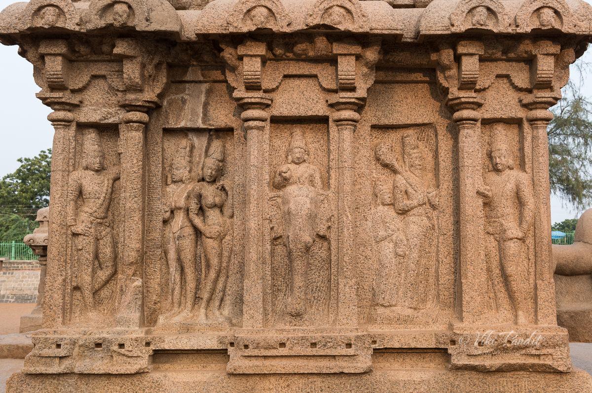 Wall Reliefs on Arjuna Rath