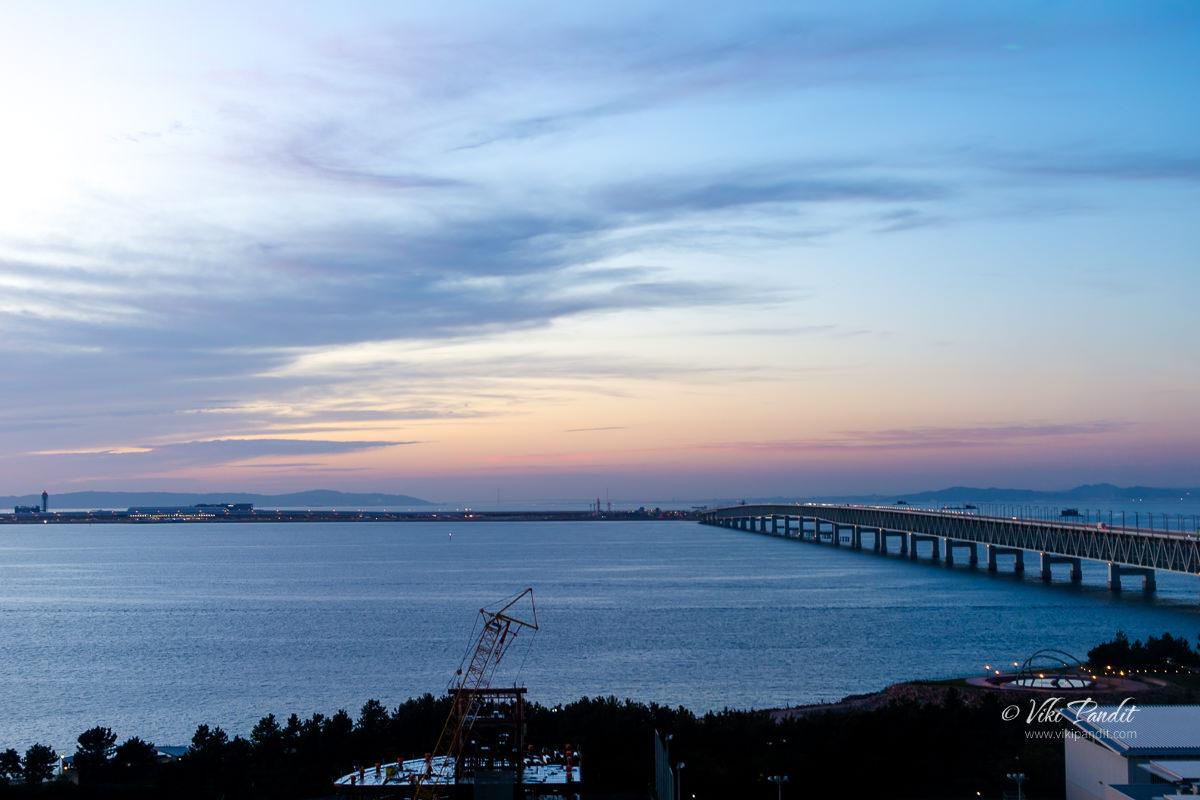 Dusk over Osaka Bay