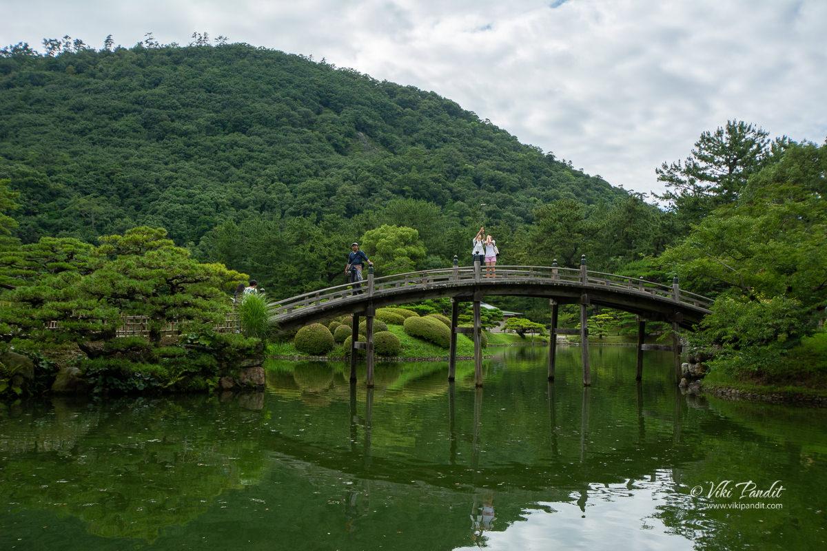 Engetsuki Bridge at Ritsurin Garden