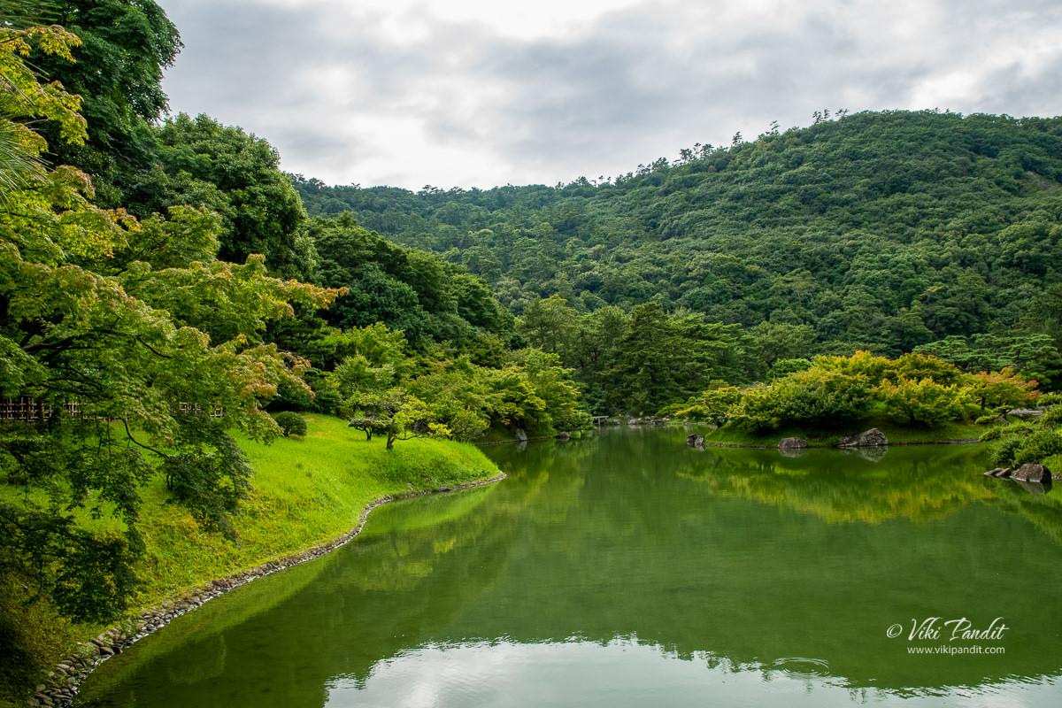 Nanko Pond at Ritsurin Garden