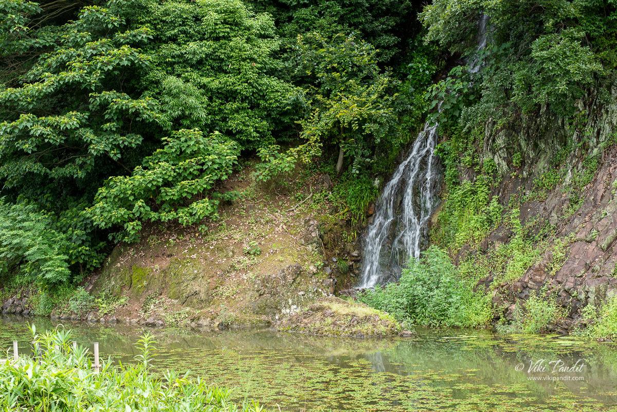 Okedoi-taki Waterfall at Ritsurin Garden