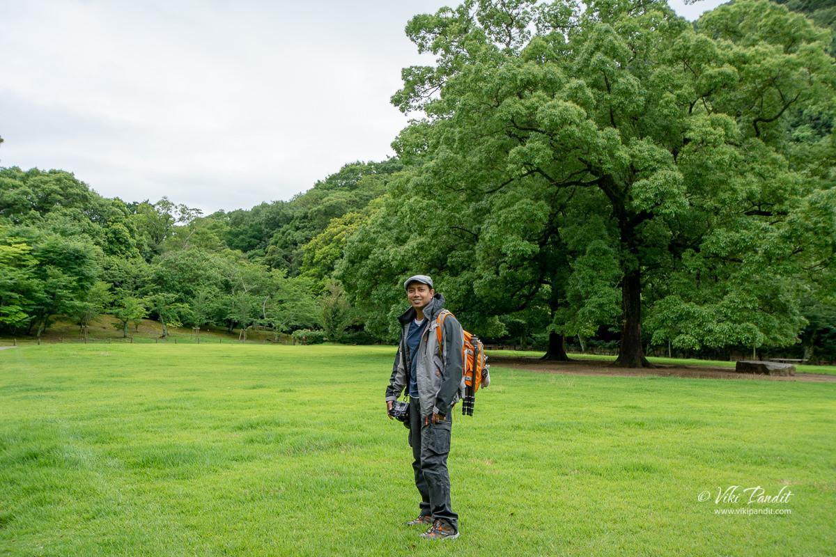 Viki at Ritsurin Garden