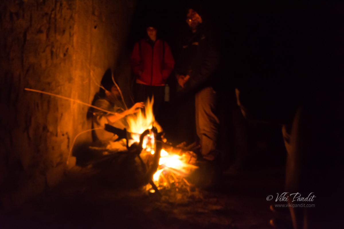 Bonfire at Savandurga