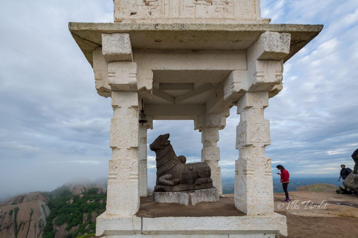 Nandi at Savandurga