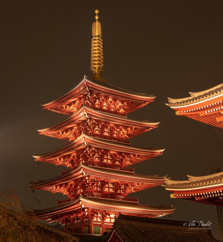Pagoda at Sensoji Temple Grounds