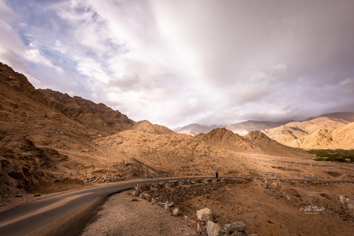 Road to Shanti Stupa
