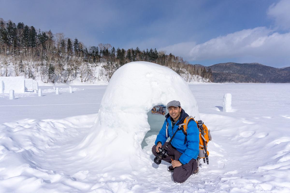 Viki at Lake Shikaribetsu