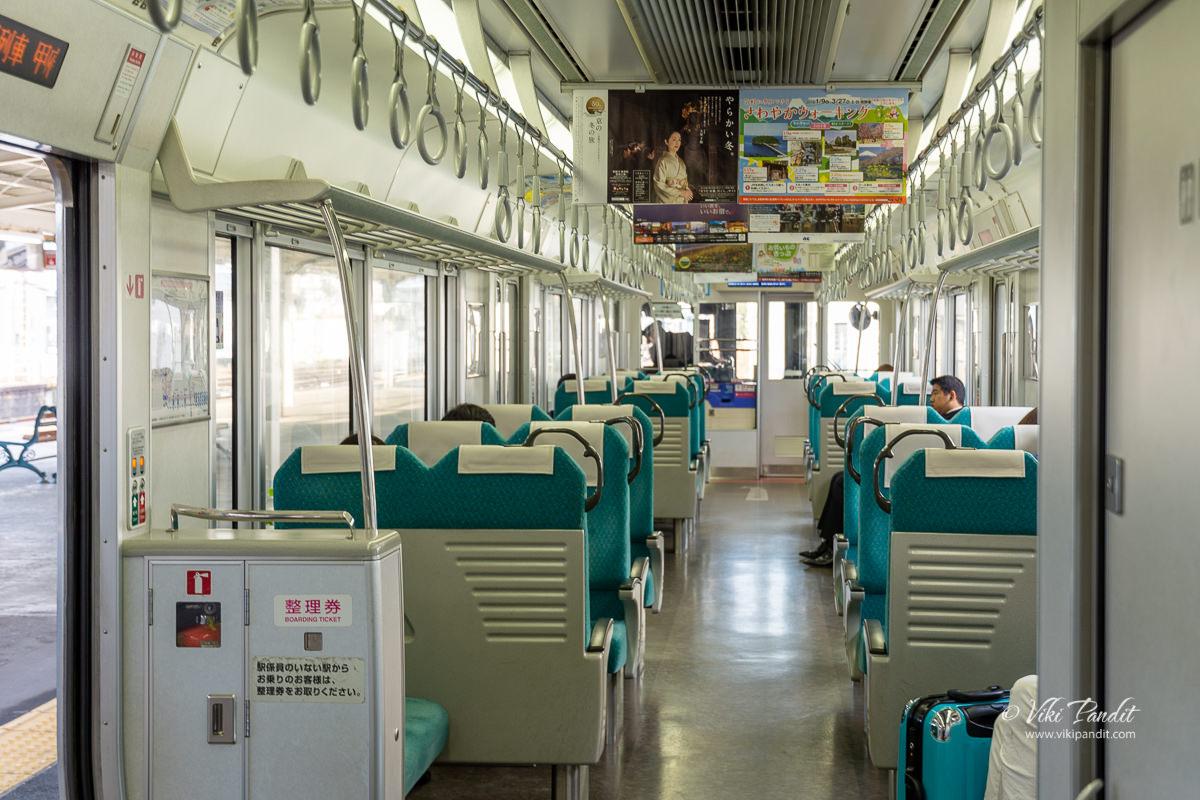 Boarding the local train to Fujinomiya Station