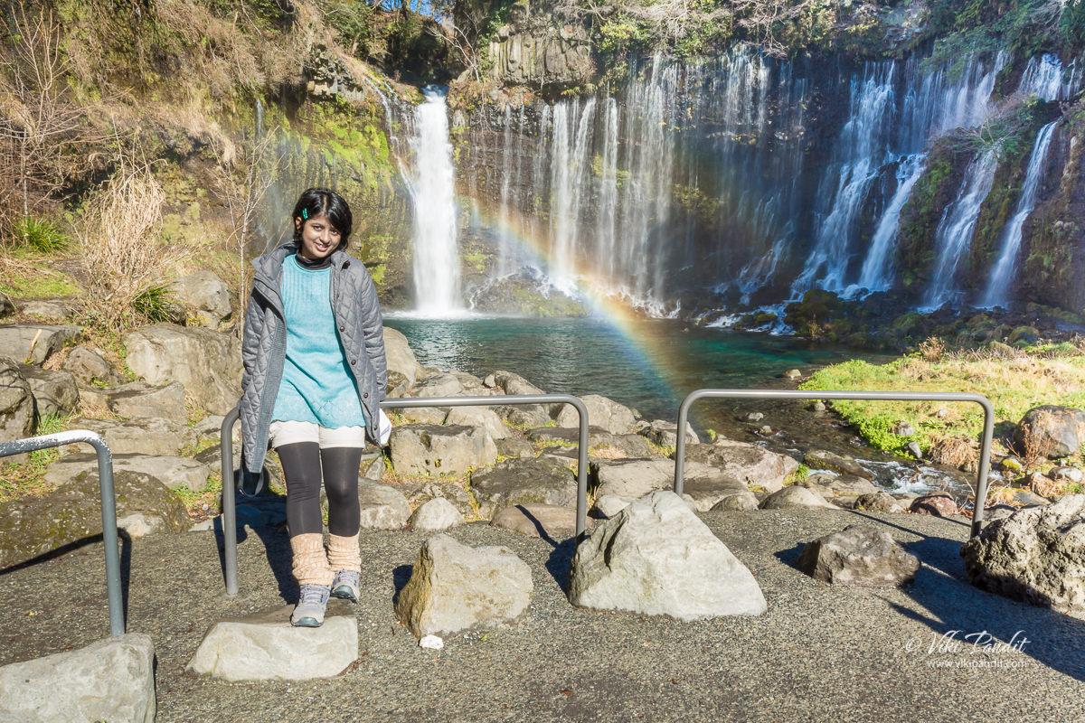 Ranita at Shiraito Falls