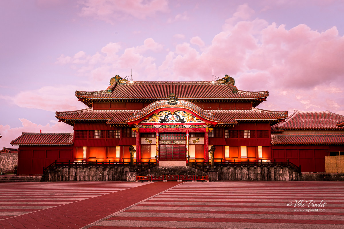 Illuminated Shuri Castle