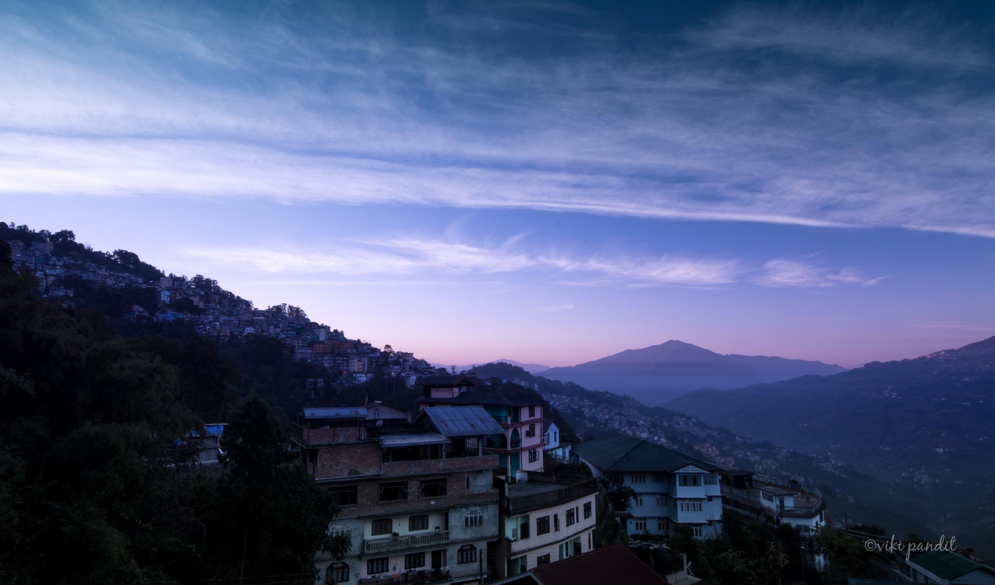 Gangtok at dawn