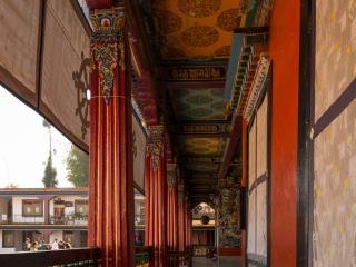 Corridors of Rumtek Monastery