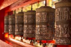 Prayer Wheels at Enchey Monastery