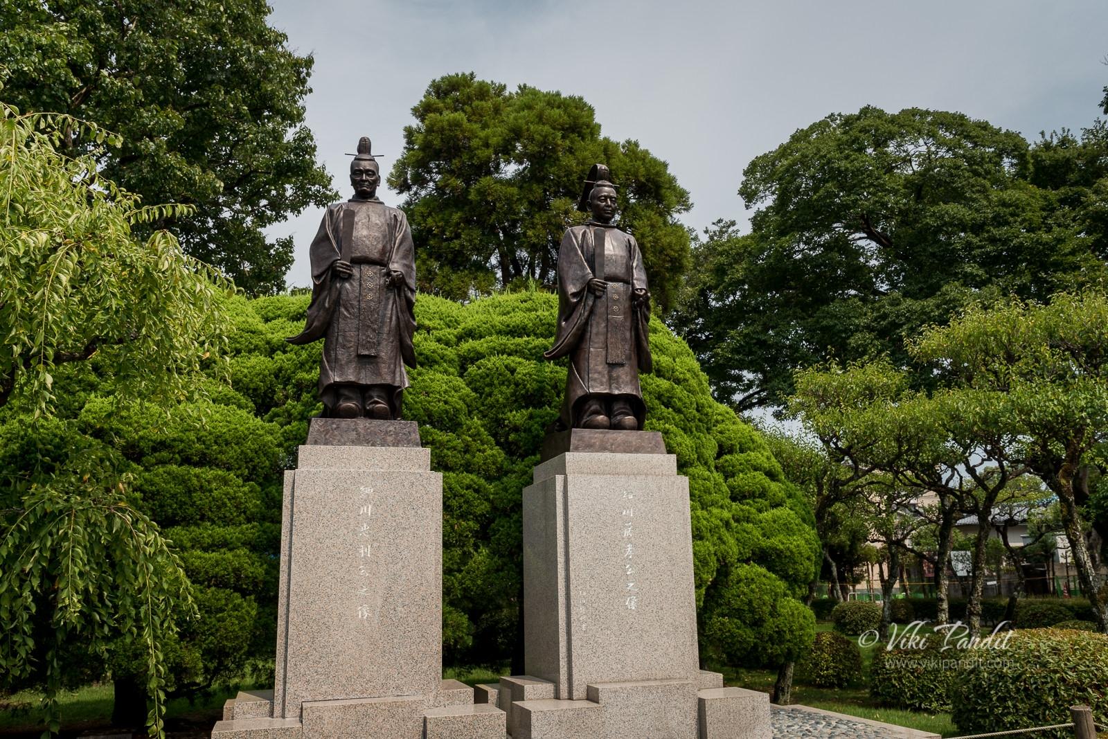 Fujitaka Hosokawa with Tadatoshi Hosokawa