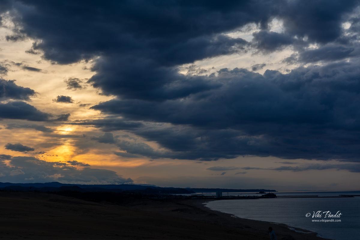 Dusk at Tottori Sand Dunes