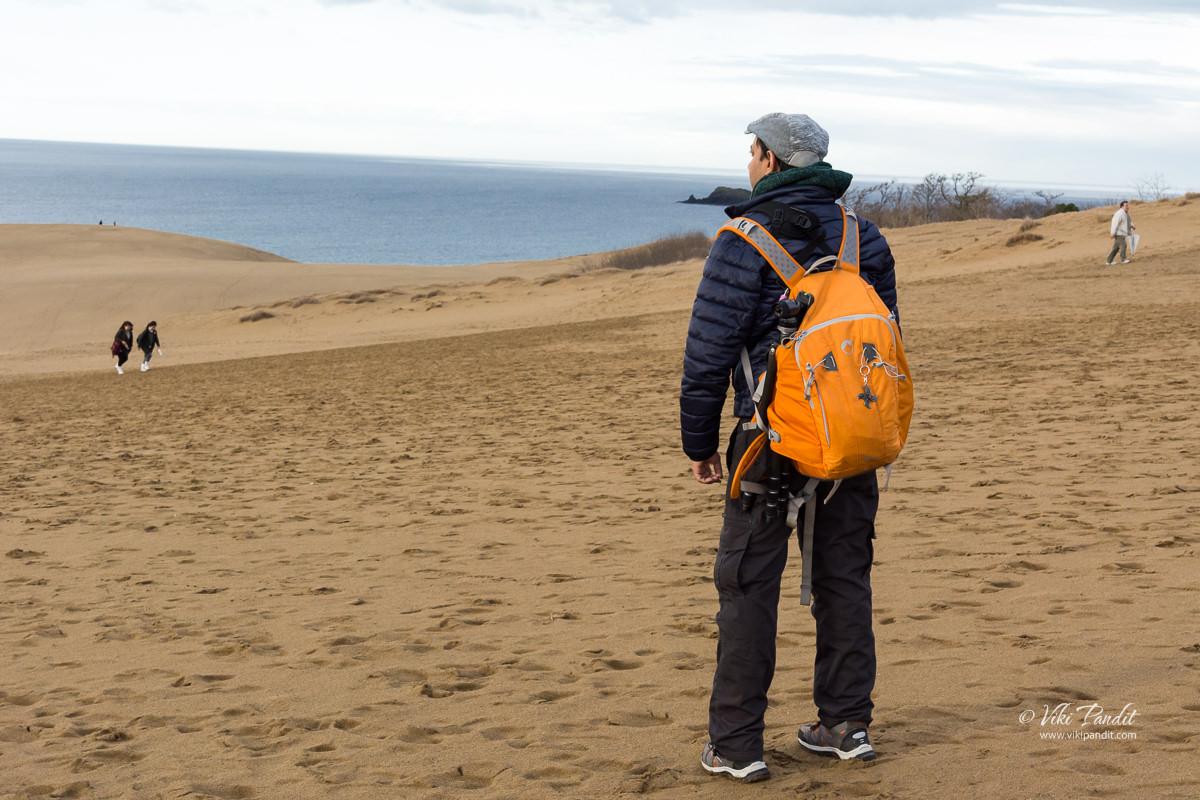Viki at Tottori Sand Dunes