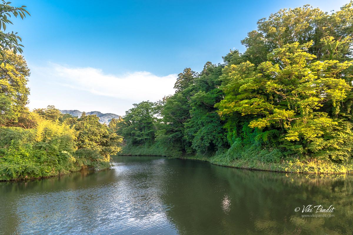 Moat surrounding Tsuruga Castle