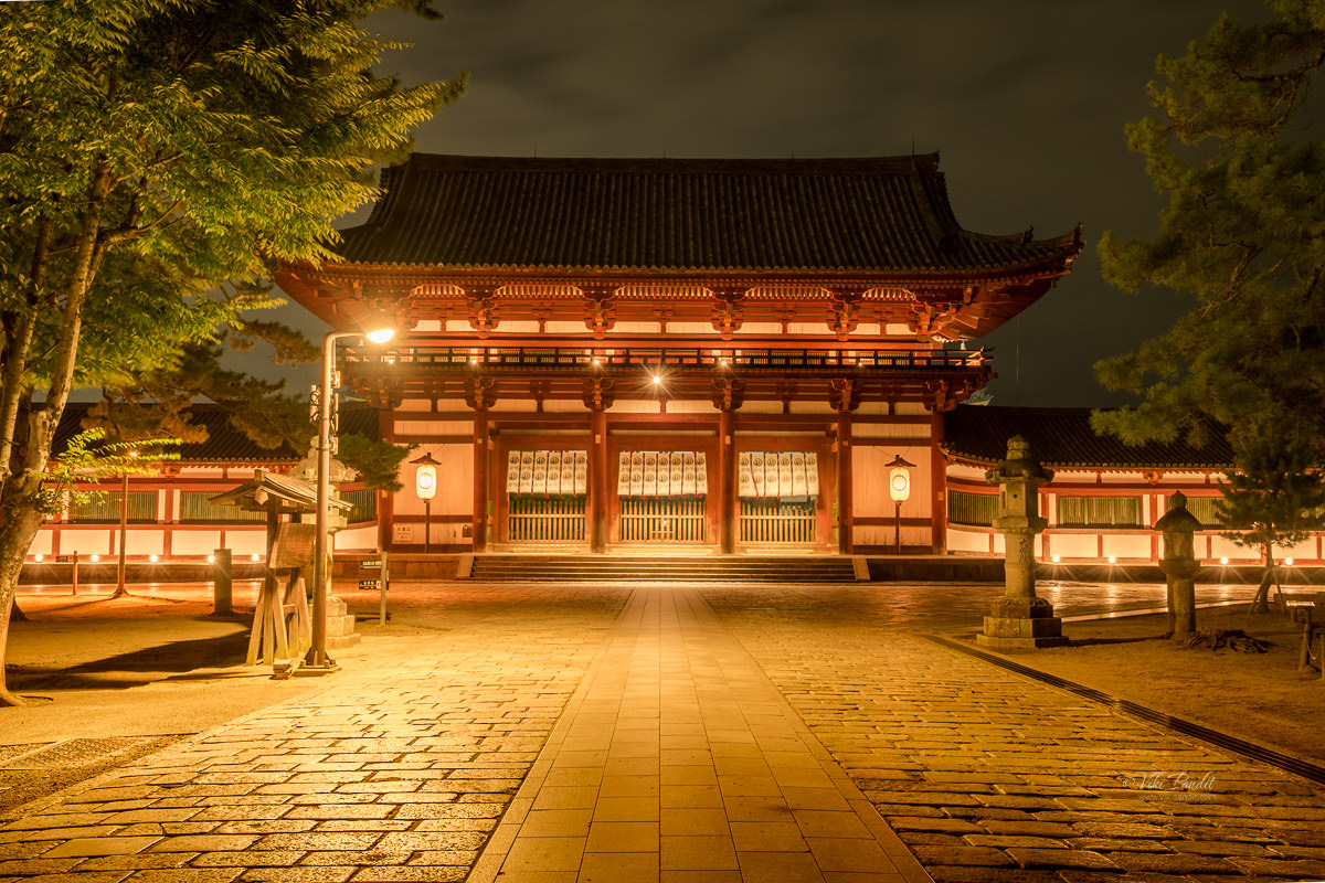 Todaiji Gate at Night
