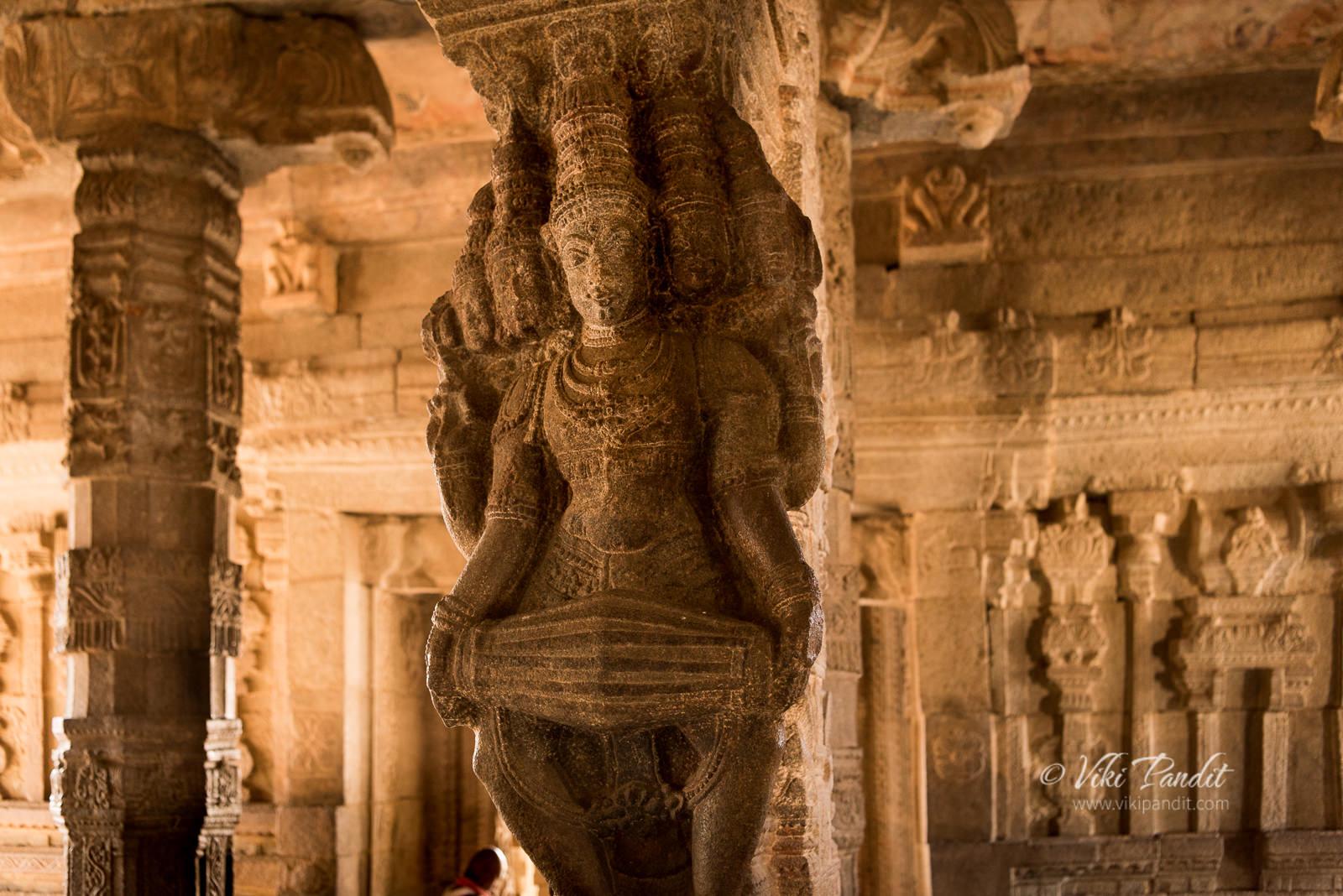 Brahma playing the Mridangam