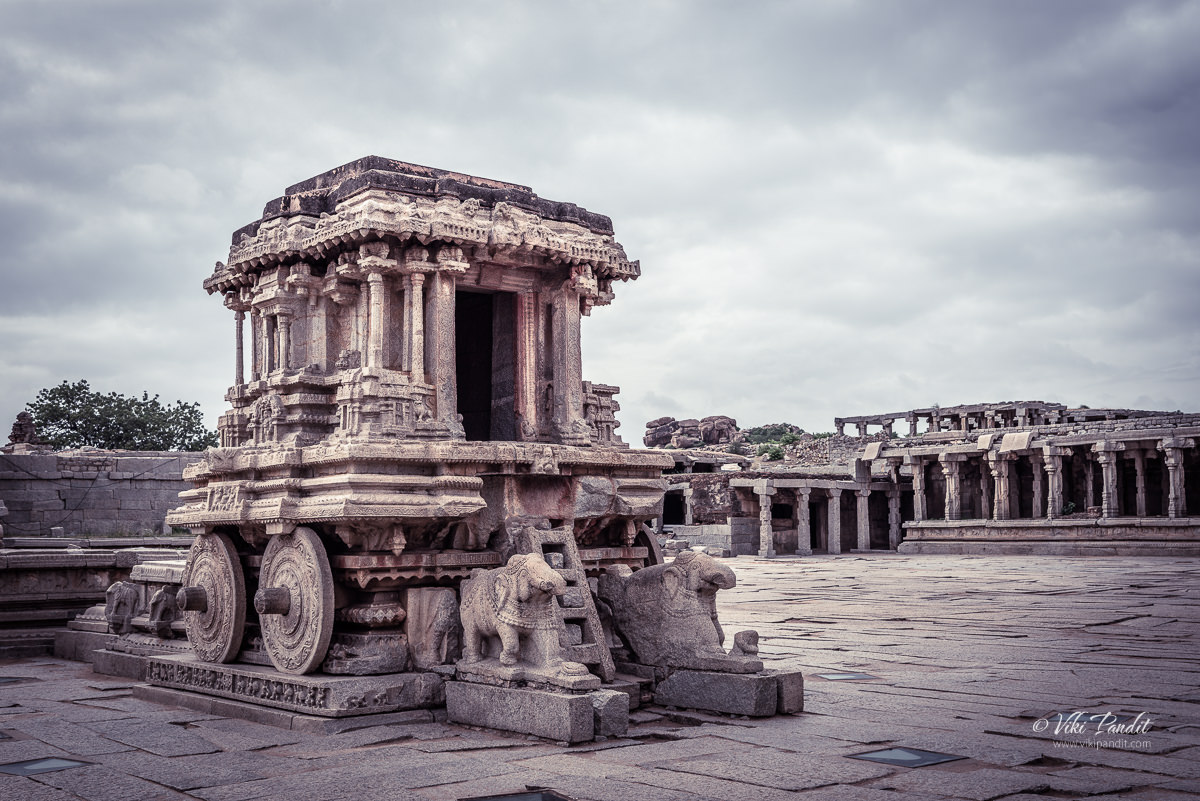Stone Chariot at Vittala Temple in Hampi