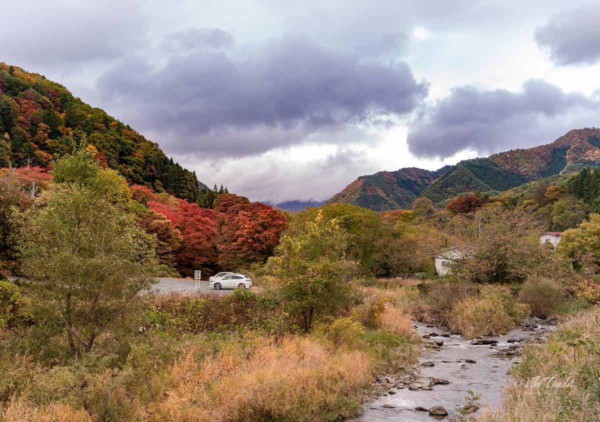 The beautiful mountains surrounding Yamadera