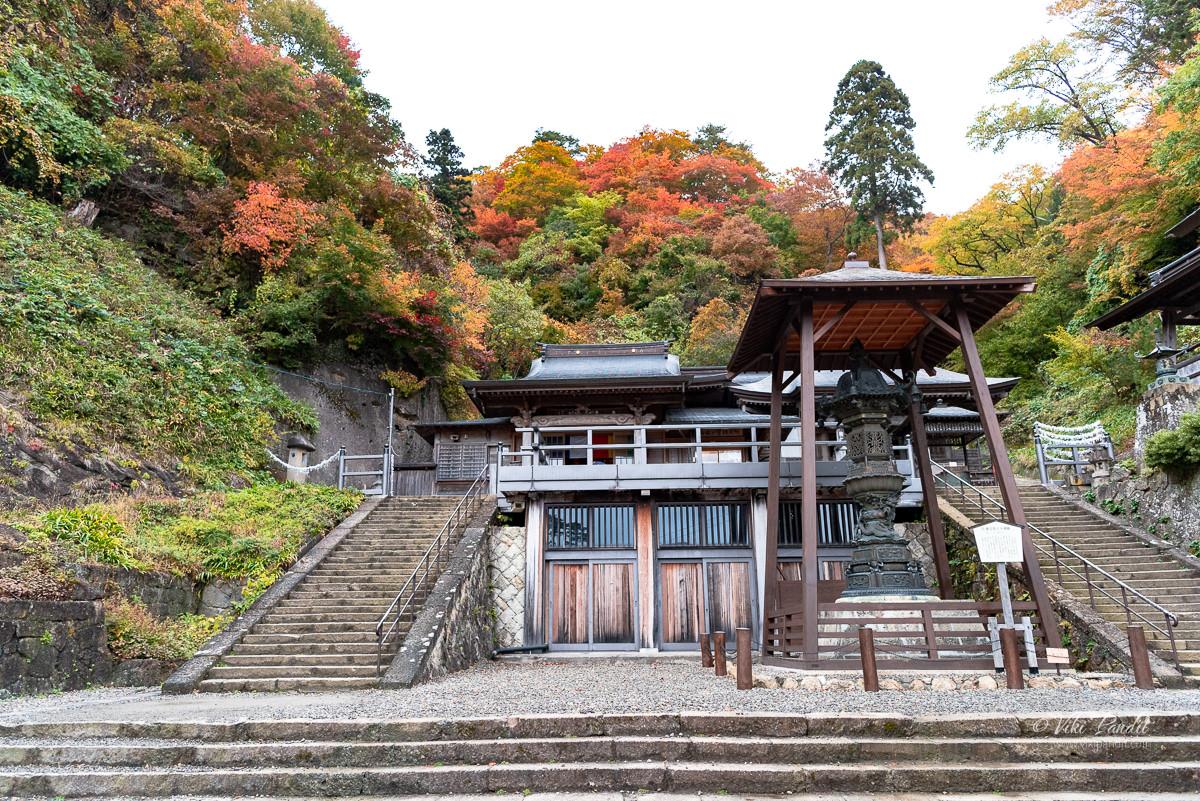 Okunoin of Risshaku-ji temple in Yamadera