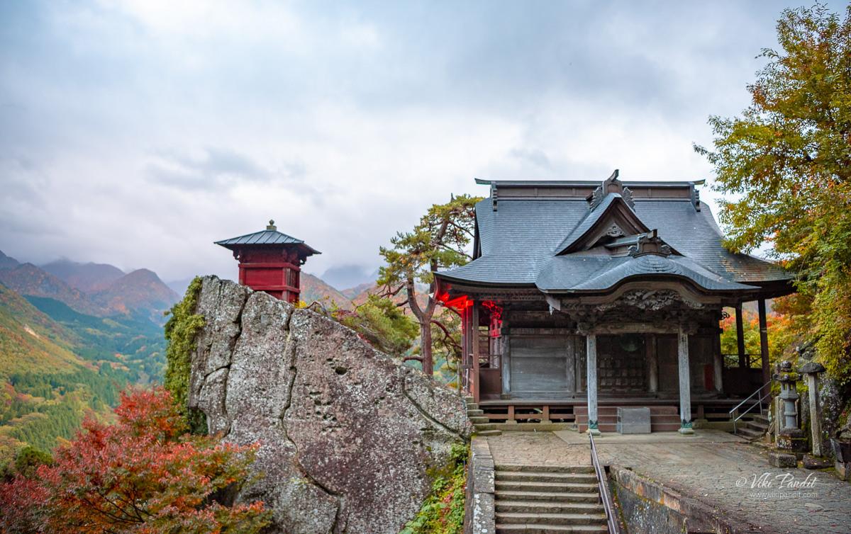 Nokyodo and Kaizando Hall at Yamadera