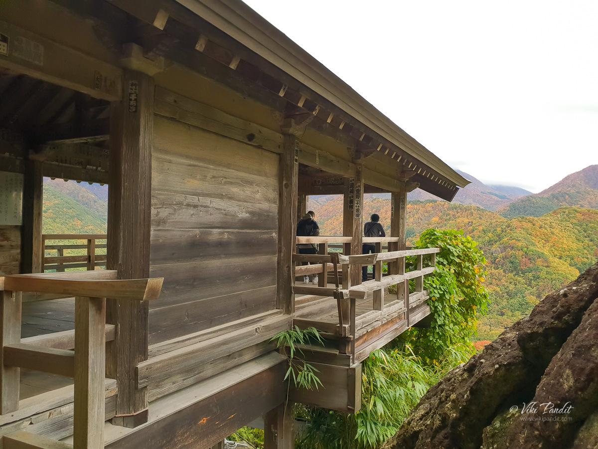 Godaido viewpoint at Yamadera