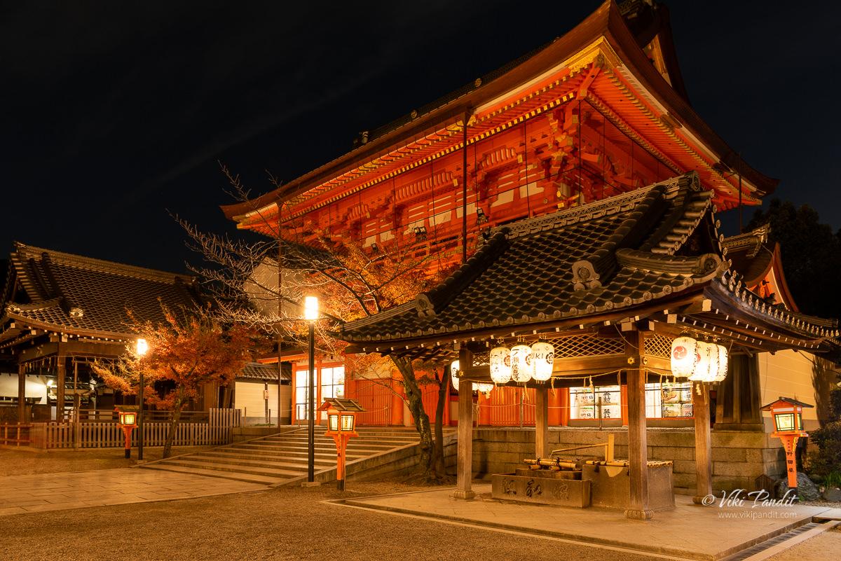 Yasaka-Jinja Shrine Minami-romon Tower Gate