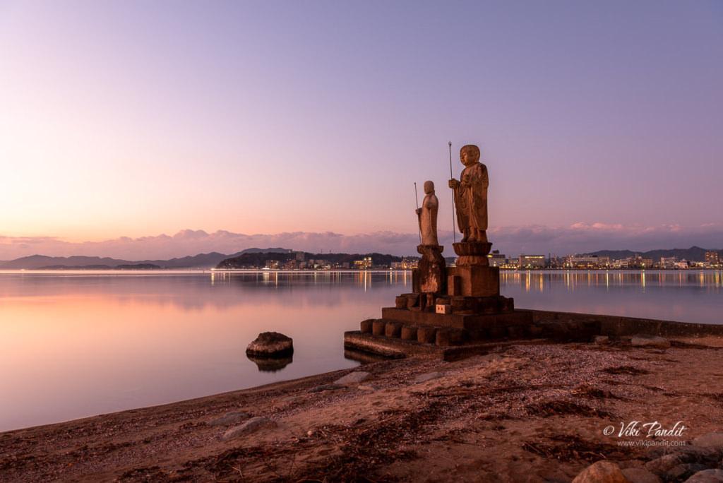 Sunset at Lake Shinji