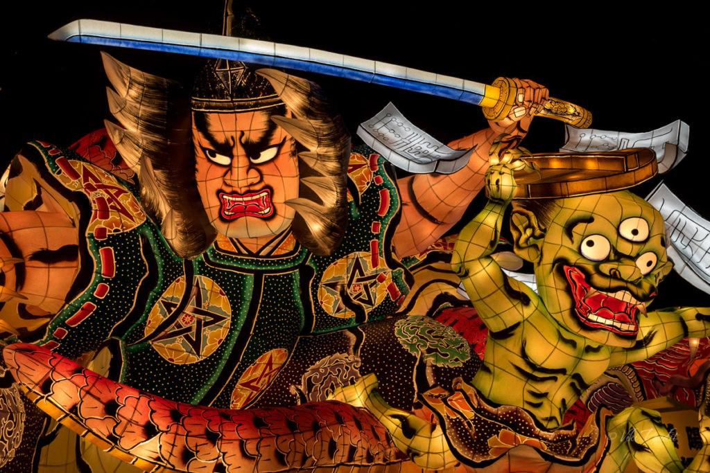 Warrior dolls of Aomori Nebuta Museum